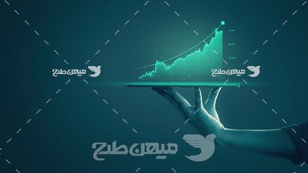 عکس نمودار رشد سهام