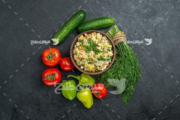 عکس خوراک سبزیجات