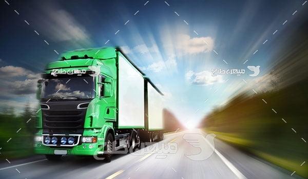 عکس تبلیغاتی حمل و نقل جاده ای