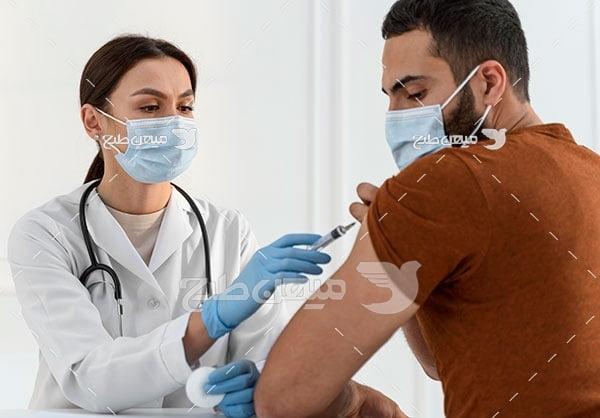 عکس واکسن زدن