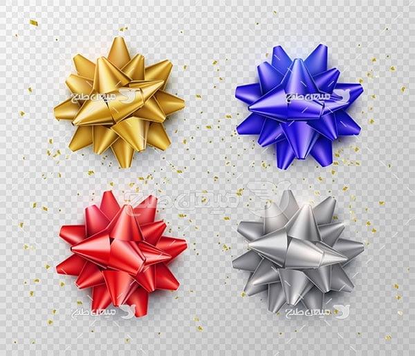 وکتور گل تزئینی کادو