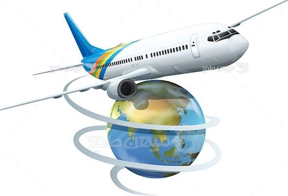 وکتور کاراکتر سفر به دور دنیا و گردشگری