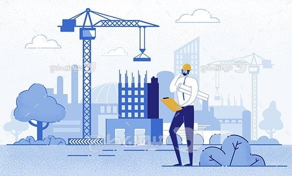 وکتور مهندسی ساختمان