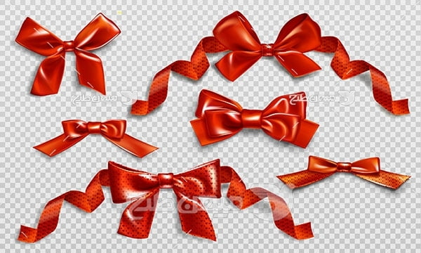 وکتور پاپیون روبانی قرمز