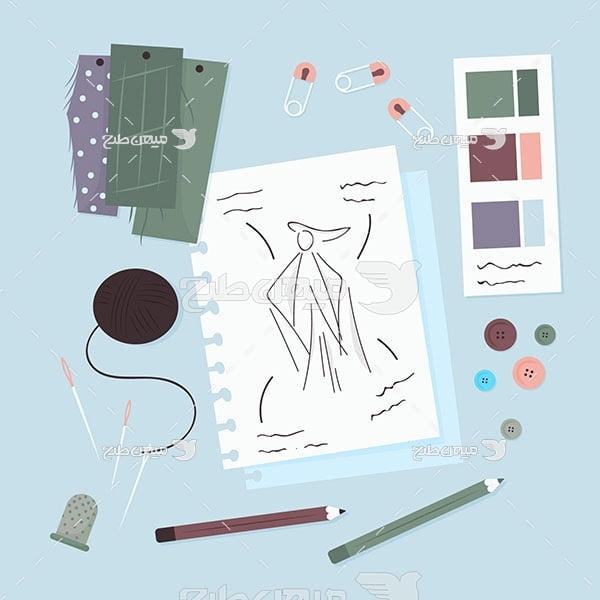 وکتور طراح لباس و پوشاک