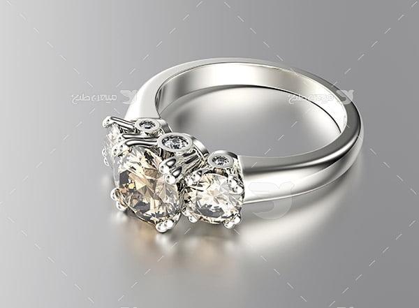 عکس حلقه با نگین الماس