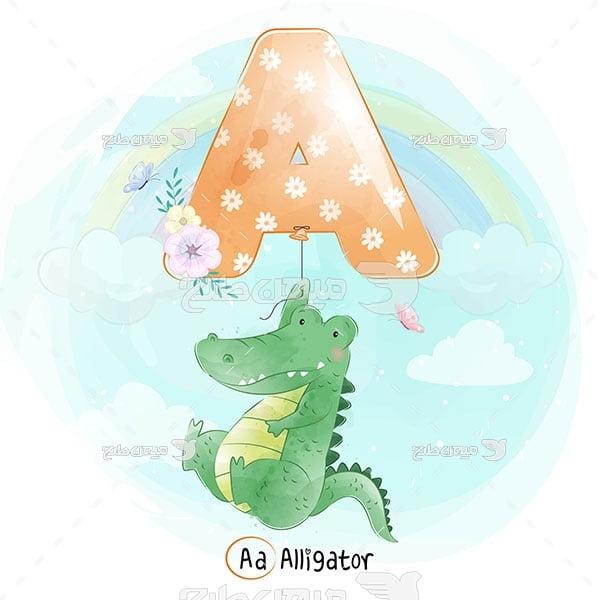 وکتور تمساح انیمیشنی