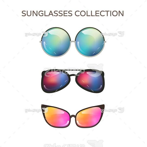 وکتور عینک آفتابی مختلف