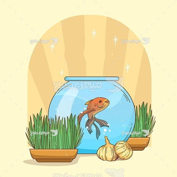 وکتور ماهی قرمز عید