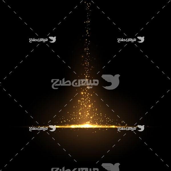 وکتور کاراکتر المان ذرات نور