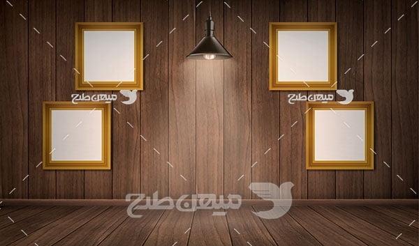 وکتور دیوار پوش های چوبی