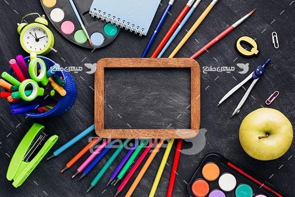 عکس لوازم درس و مدرسه