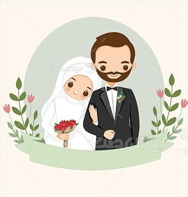 وکتور کاراکتر عروس و داماداسلامی