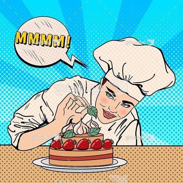وکتور کیک
