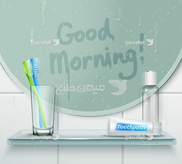 وکتور شستشویی دهان و دندان