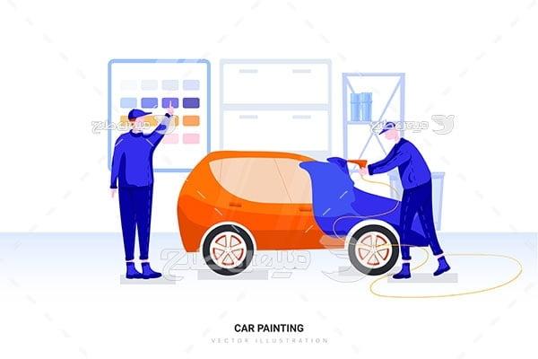 وکتور صافکاری و نقاشی خودرو