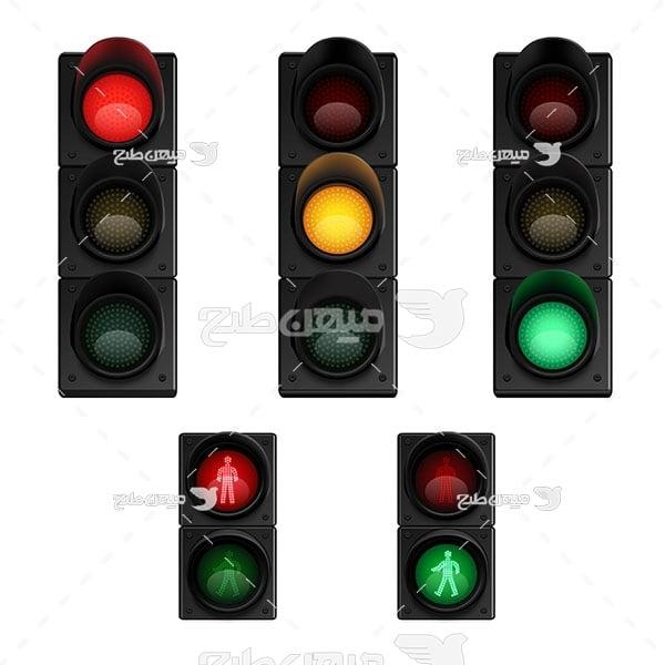 وکتور چراغ راهنمایی و رانندگی