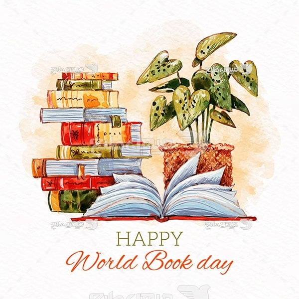 وکتور روز کتاب مبارک