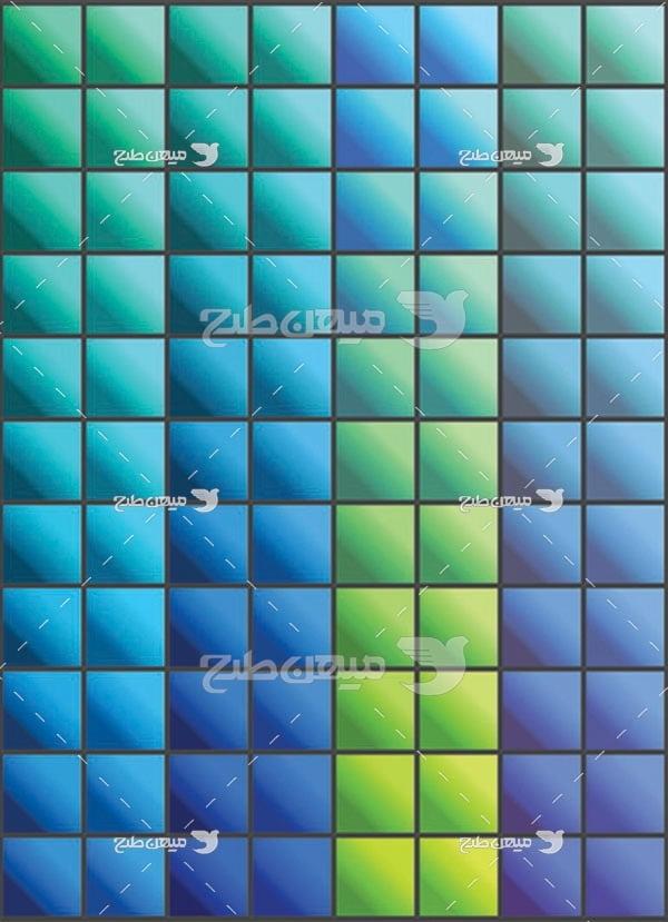 مجموعه ابزارهای فتوشاپ گرادینت طیف مروب رنگ سرد