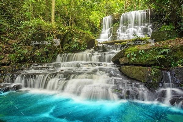 عکس تبلیغاتی طبیعت و آبشار آبی