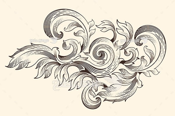وکتور حاشیه اسلیمی و نقش برگ و گل