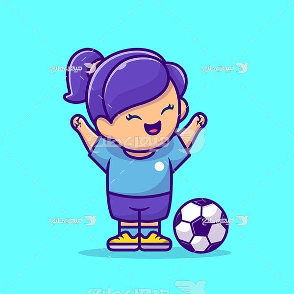 وکتور دختر فوتبالیست
