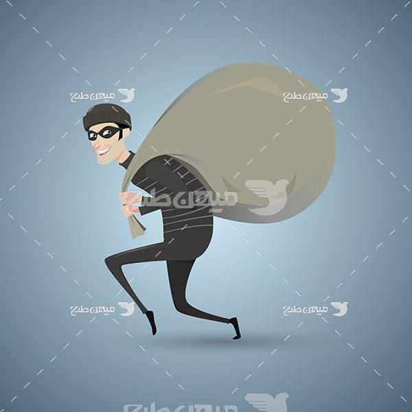 وکتور دزد پول