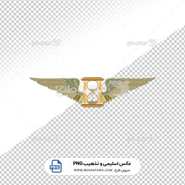 عکس برش خورده اسلیمی و تذهیب بال پرنده