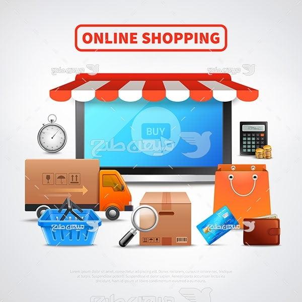 وکتور فروشگاه آنلاین