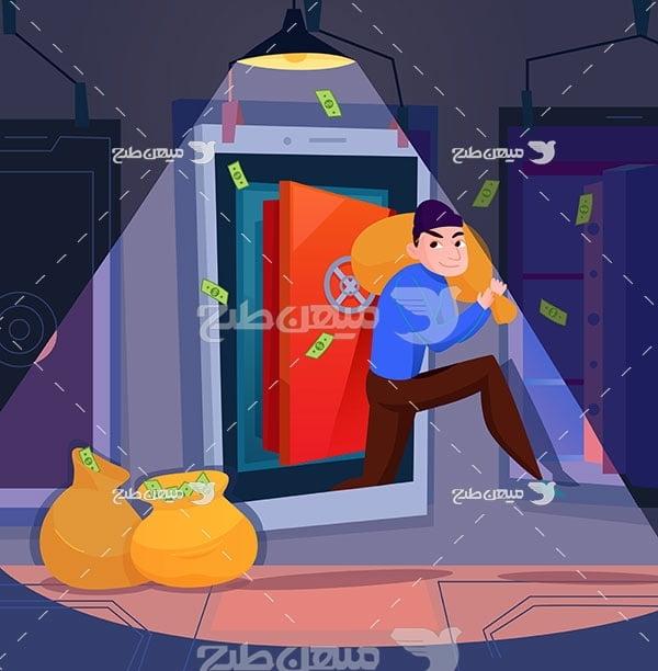 وکتور دزدی از بانک