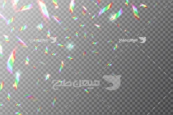وکتور کاراکتر المان انعکاس نور در شیشه