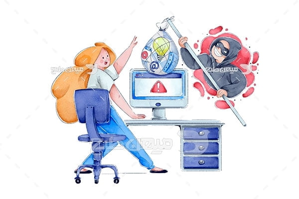 وکتور هک شدن اطلاعات