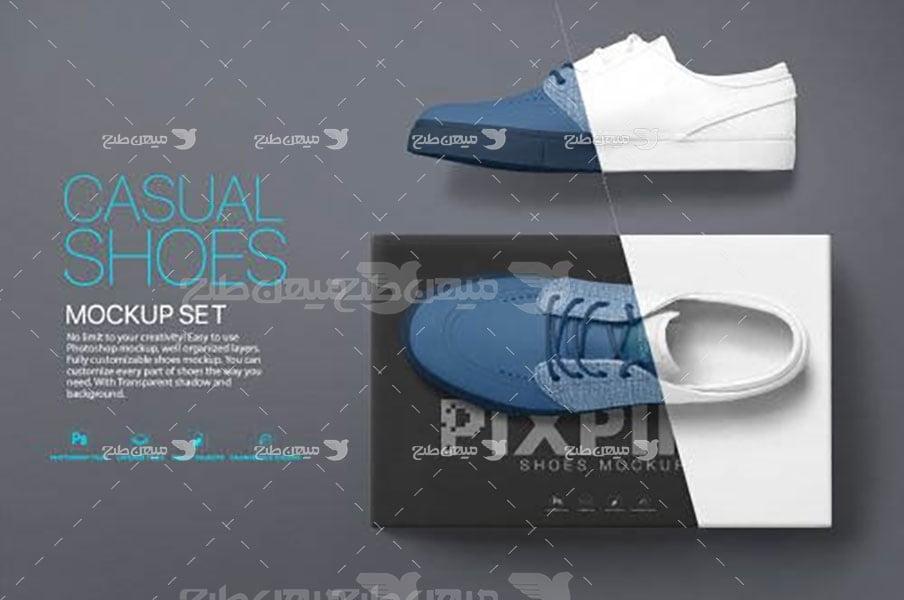 موکاپ کفش رسمی مردانه