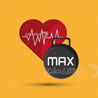 وکتور ورزش و سلامت قلب