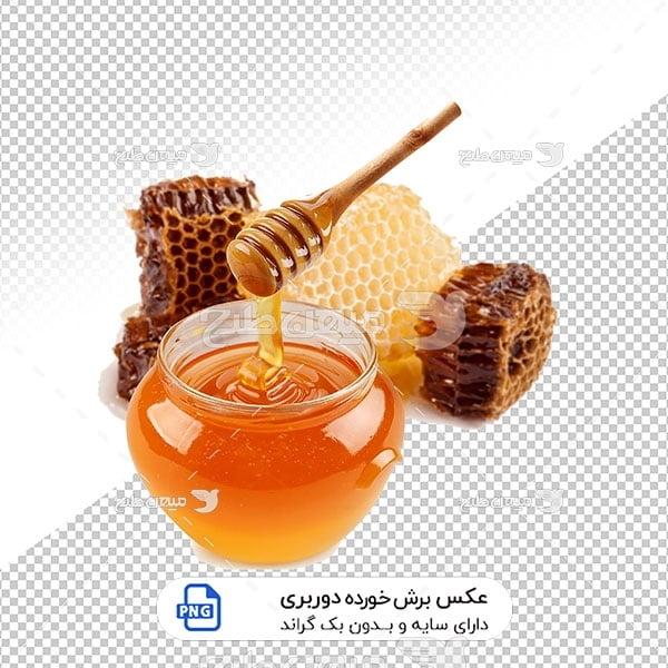 عکس برش خورده عسل طبیعی و موم
