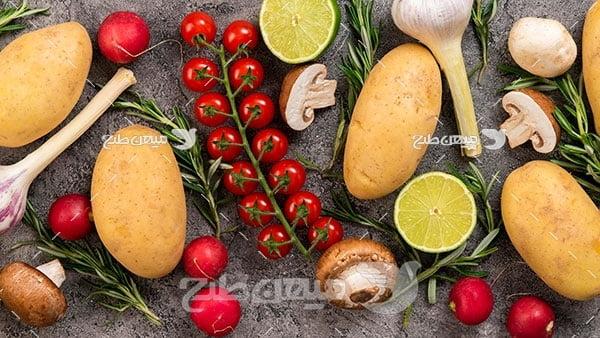 عکس مواد اولیه پخت و پز
