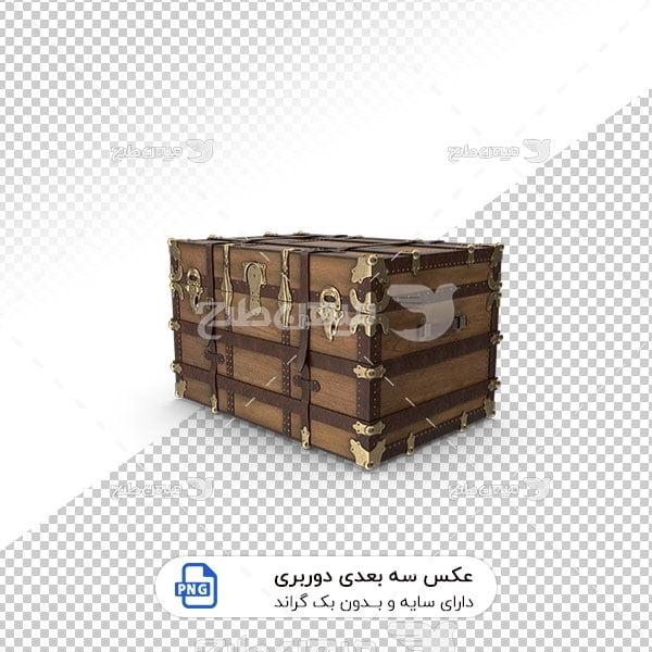 عکس برش خورده سه بعدی صندوقچه طرح چوب