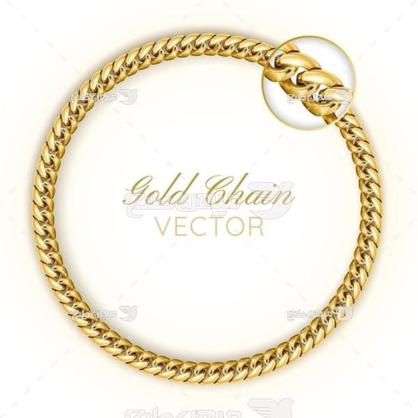وکتور دستبند طلا