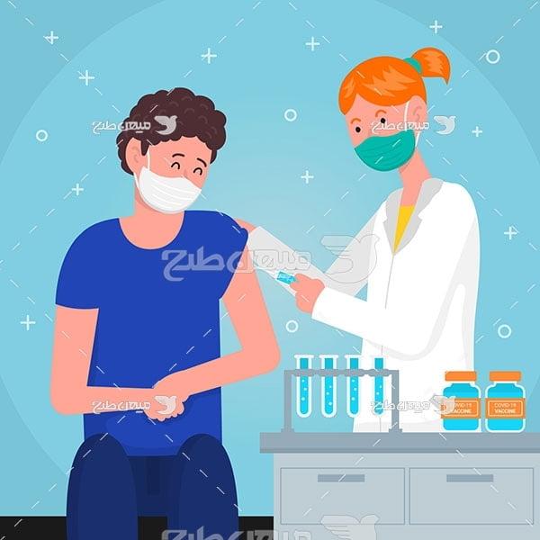 وکتور تزریق واکسن درمان بیماری