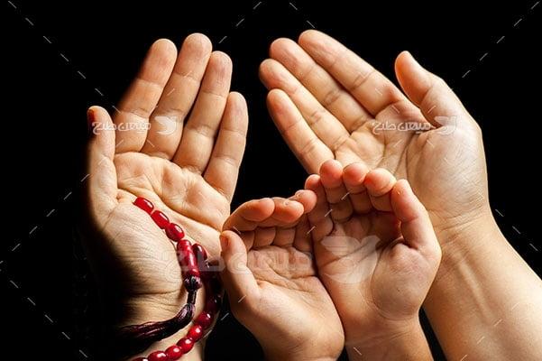عکس تبلیغاتی حجاب دست به دعا