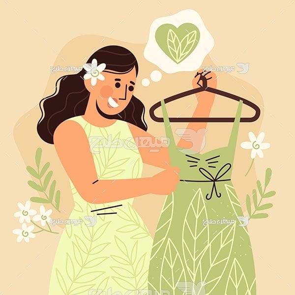 وکتور خرید لباس