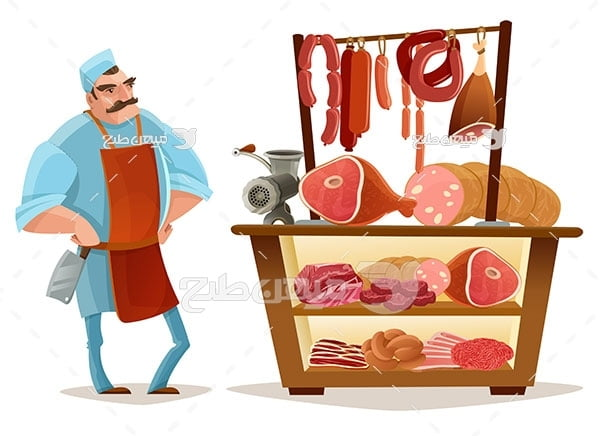 وکتور قصاب گوشت