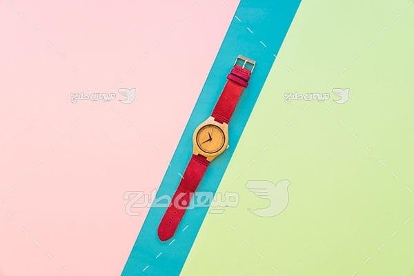 عکس ساعت مچی بند قرمز