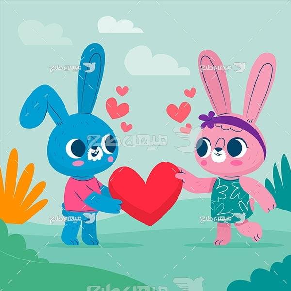 وکتور خرگوش عاشق