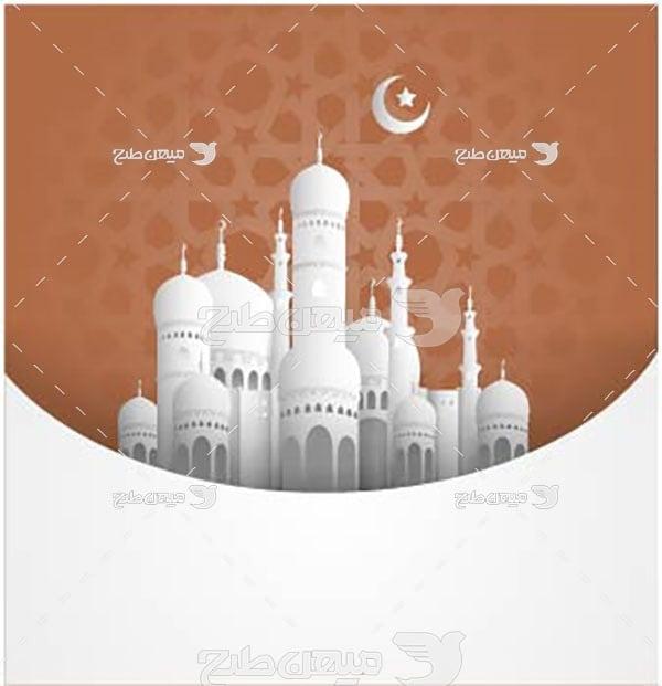 وکتور مسجد عبادتگاه مسلمین