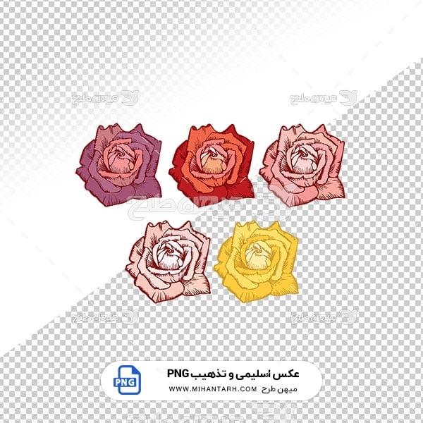 عکس برش خورده اسلیمی و تذهیب طرح گل