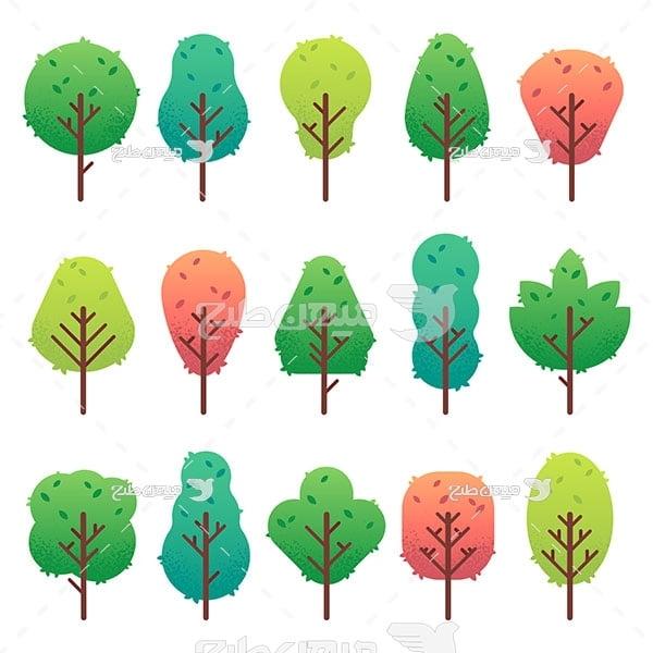 وکتور درخت