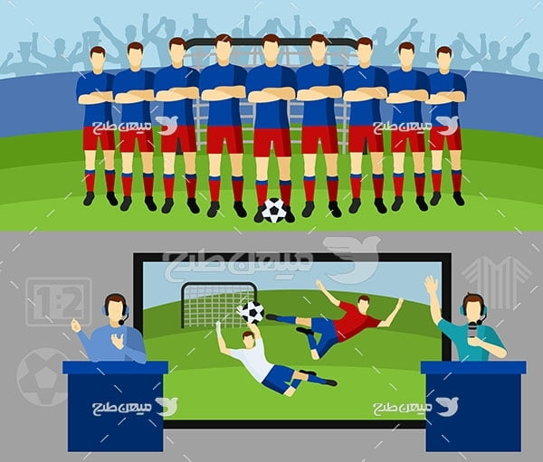 وکتور گزارشگر فوتبال