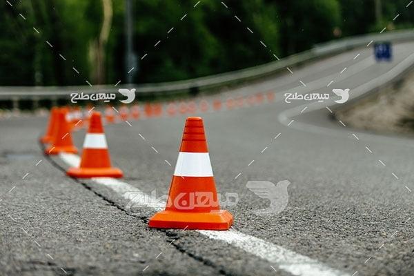 عکس کله قندی ترافیکی جاده