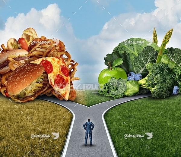 عکس تبلیغاتی غذا رژیم غذایی